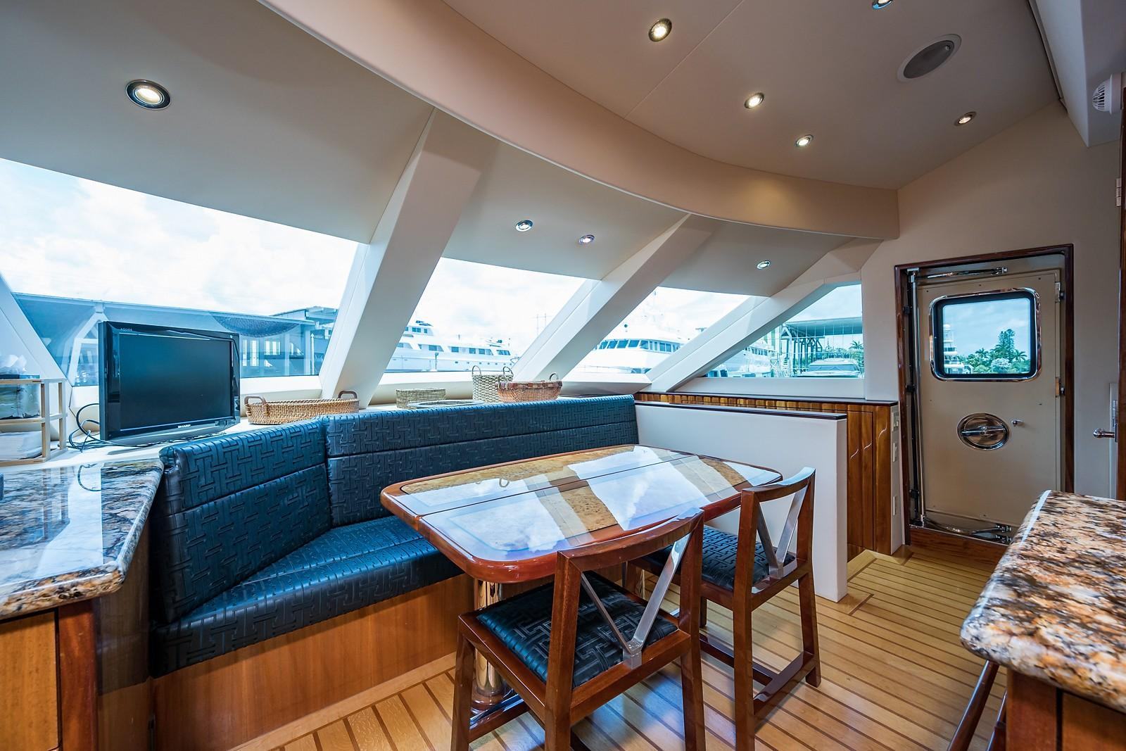 72 ft Hatteras 72 Motor Yacht Galley Forward to Starboard