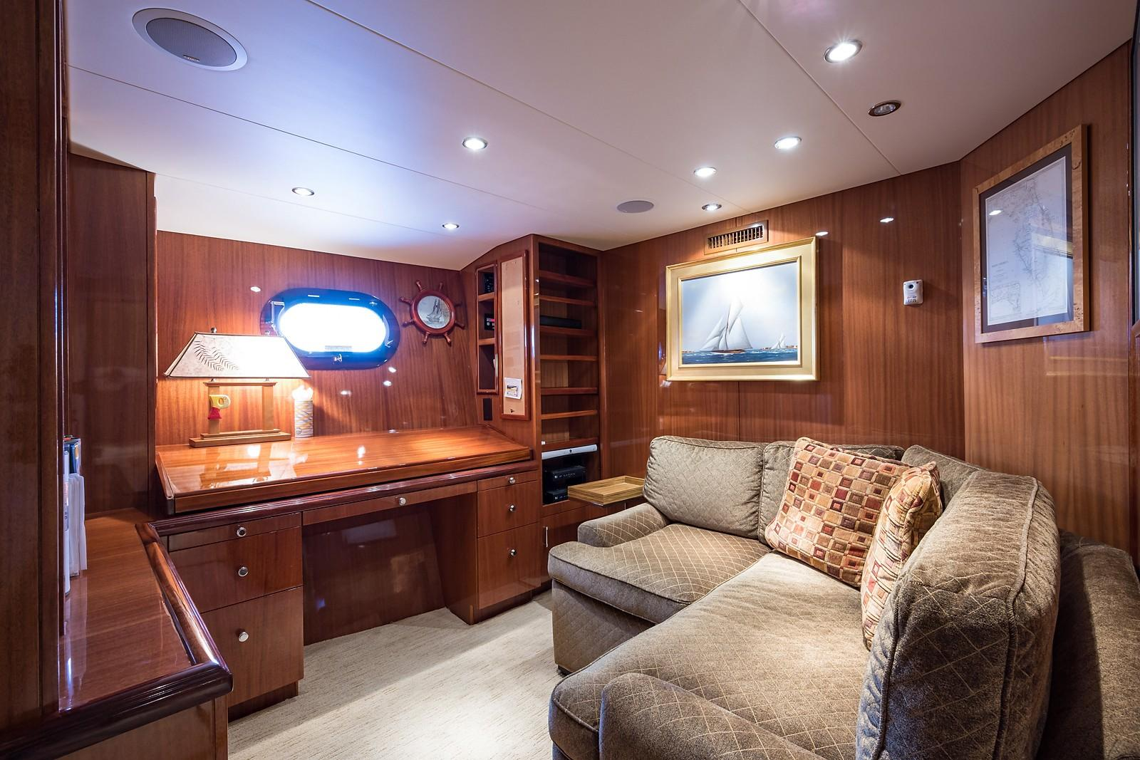 72 ft Hatteras 72 Motor Yacht Master Suite Office/Lounge