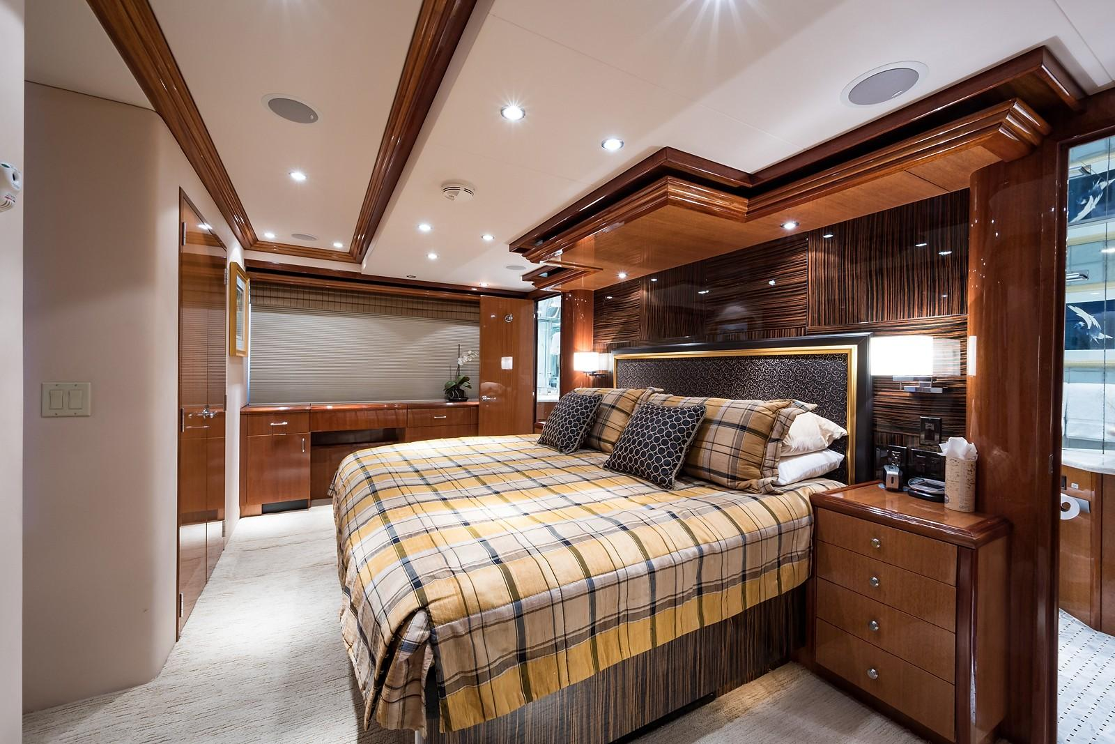 72 ft Hatteras 72 Motor Yacht Master Stateroom to Starboard