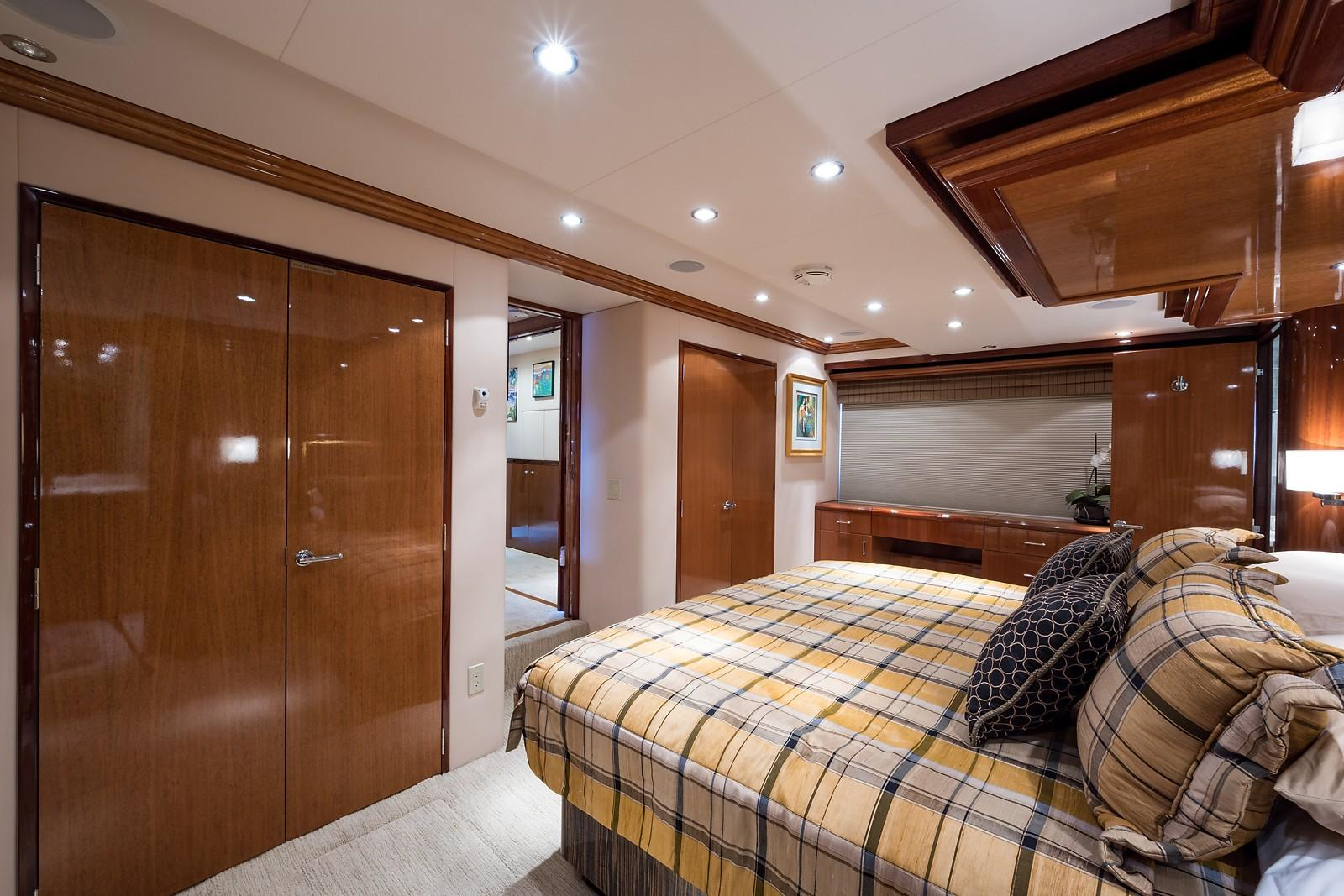 72 ft Hatteras 72 Motor Yacht Master Stateroom Forward to Starboard