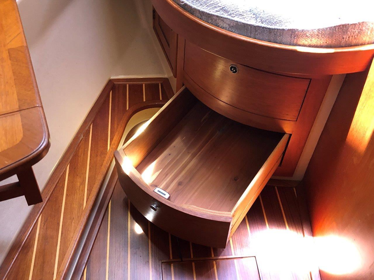 Forward stateroom drawers