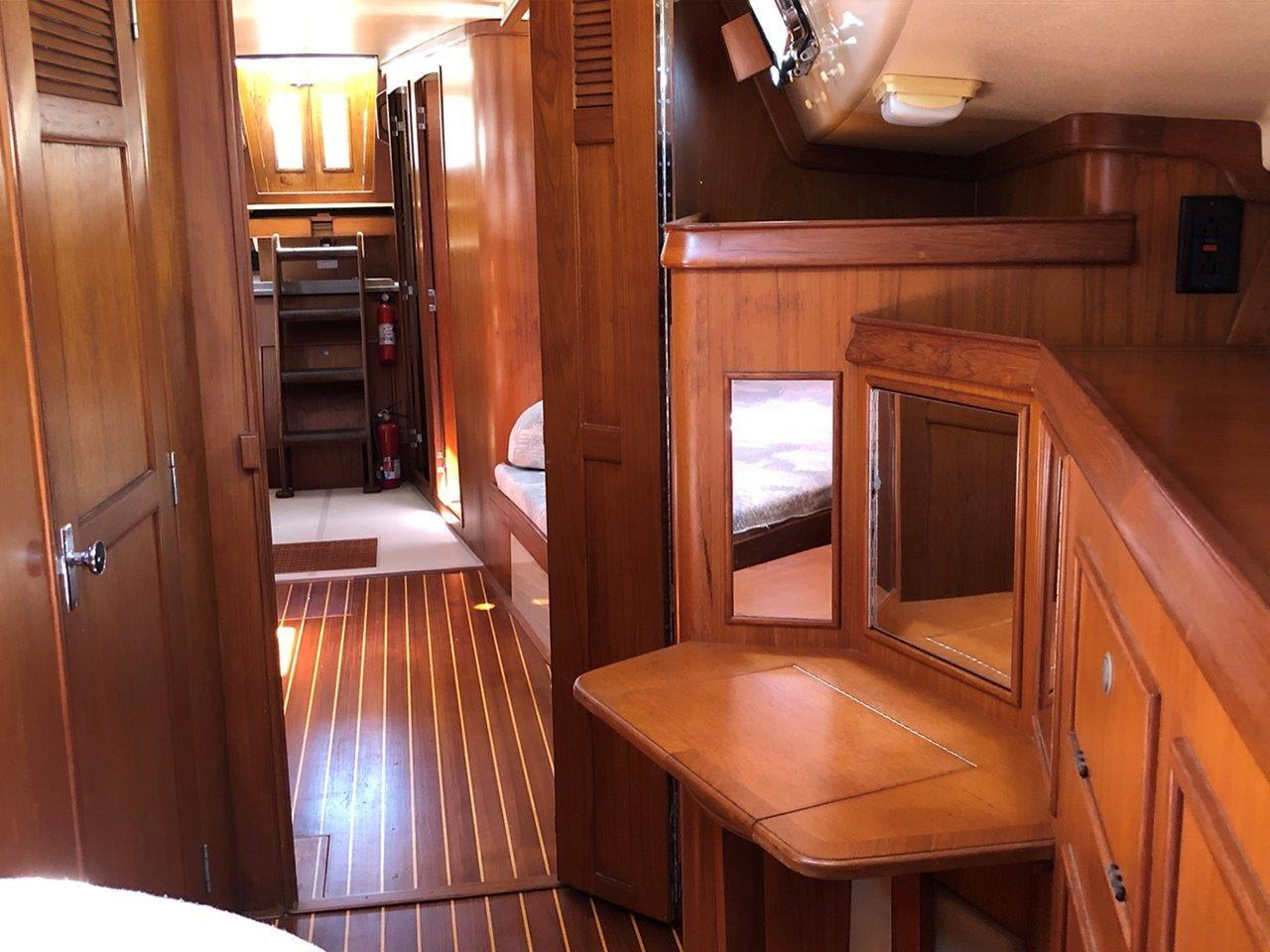 Forward stateroom looking aft