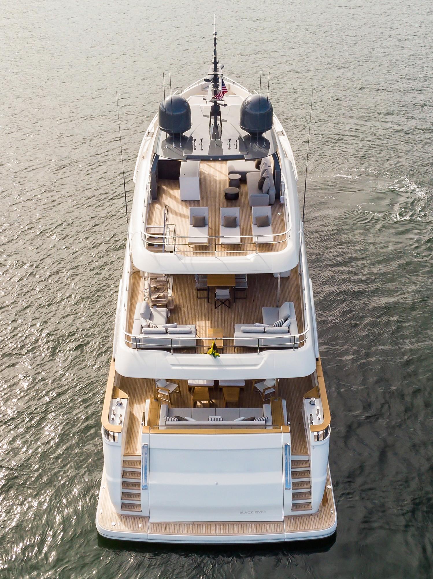 2018 Custom Line Navetta 33 M - Ariel Aft View