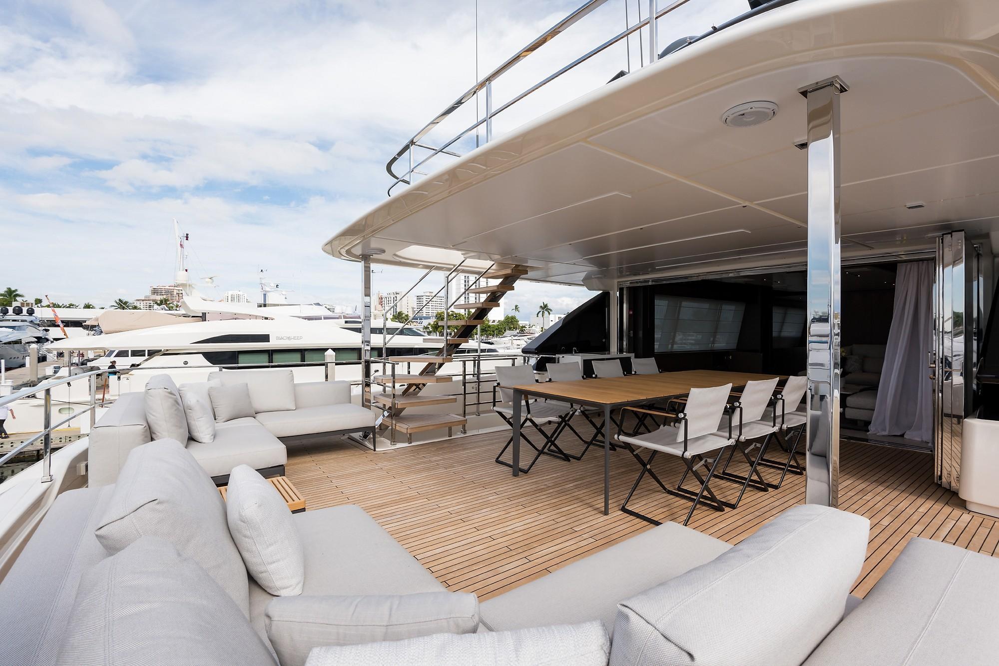 2018 Custom Line Navetta 33 M - Upper Aft Deck