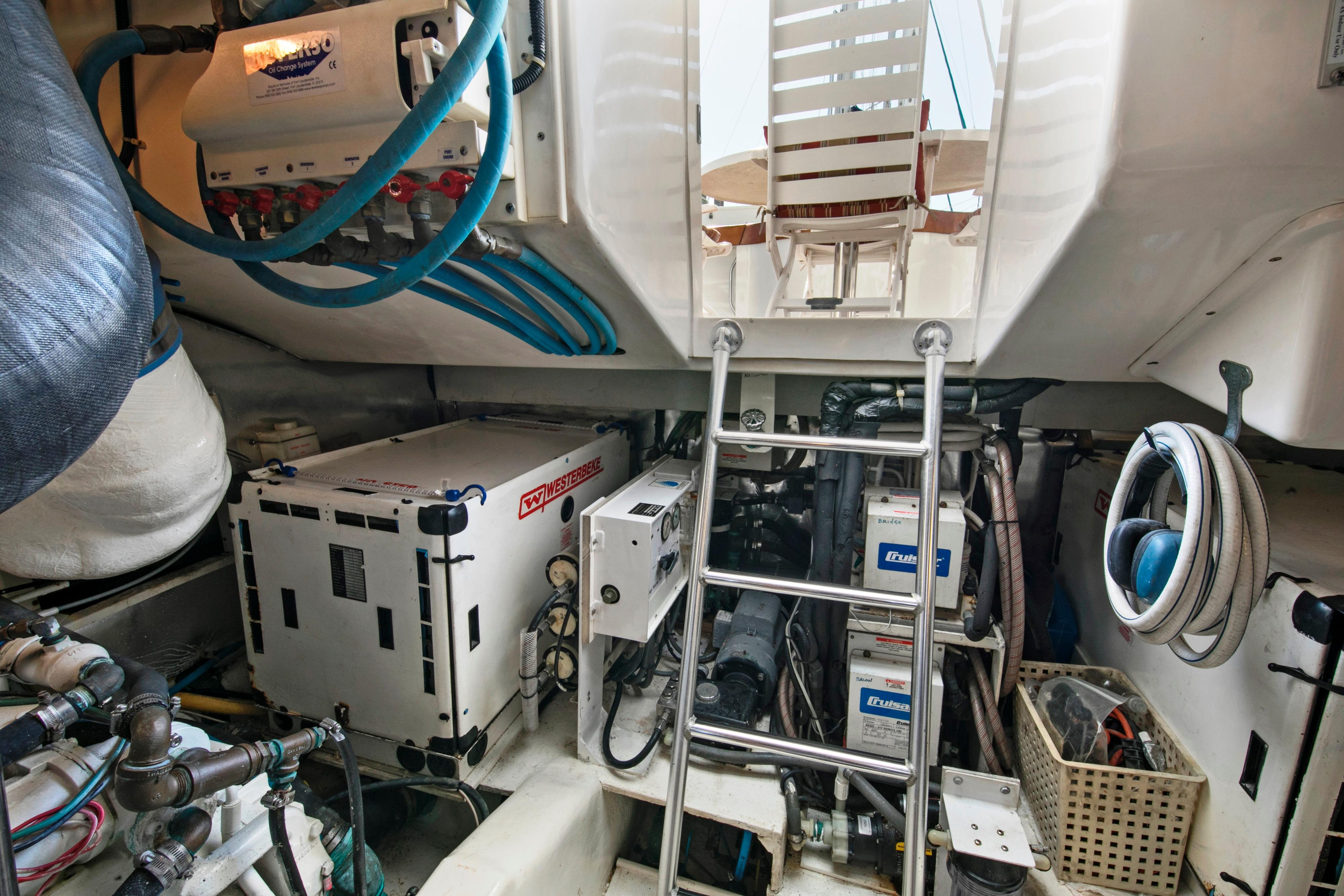 Engine room - view aft