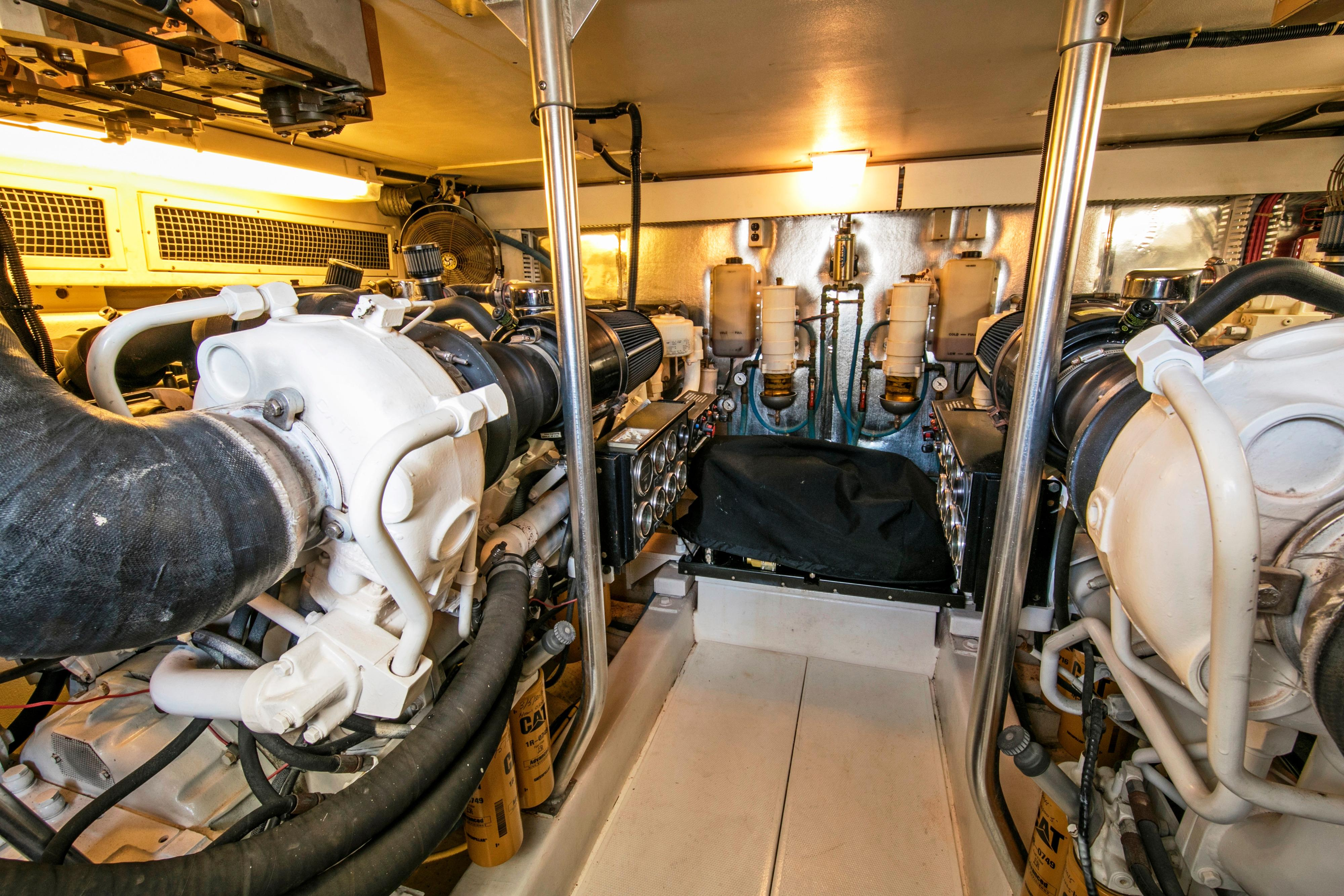Engine room - view forward