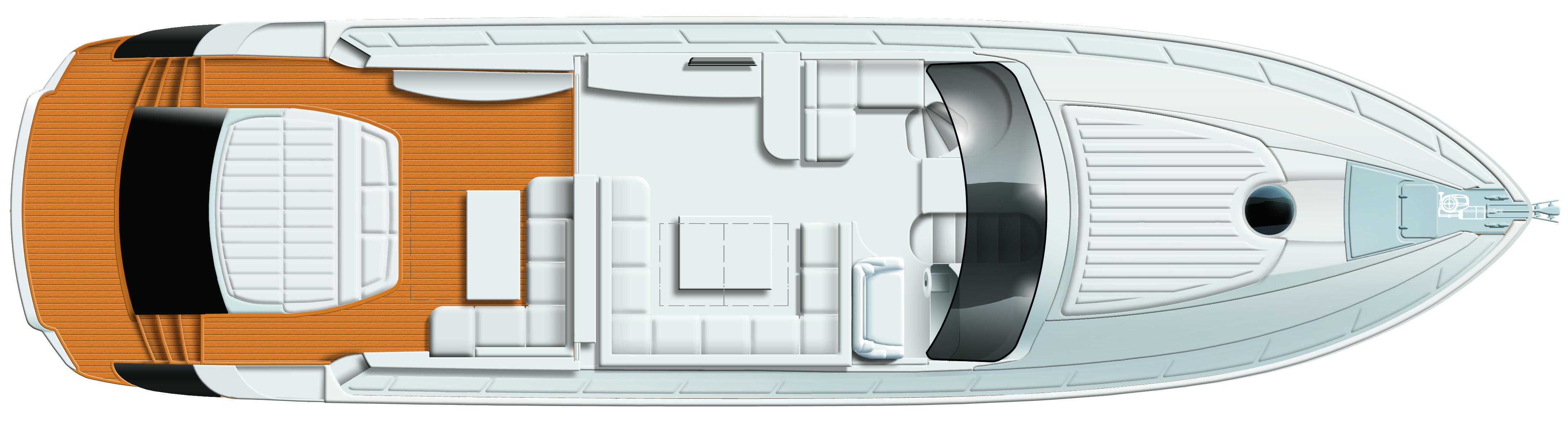 Manufacturer Provided Image: Pershing 64 Upper Deck Layout Plan