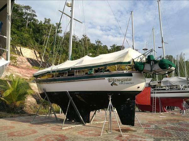 Slocum 43 full boat cover