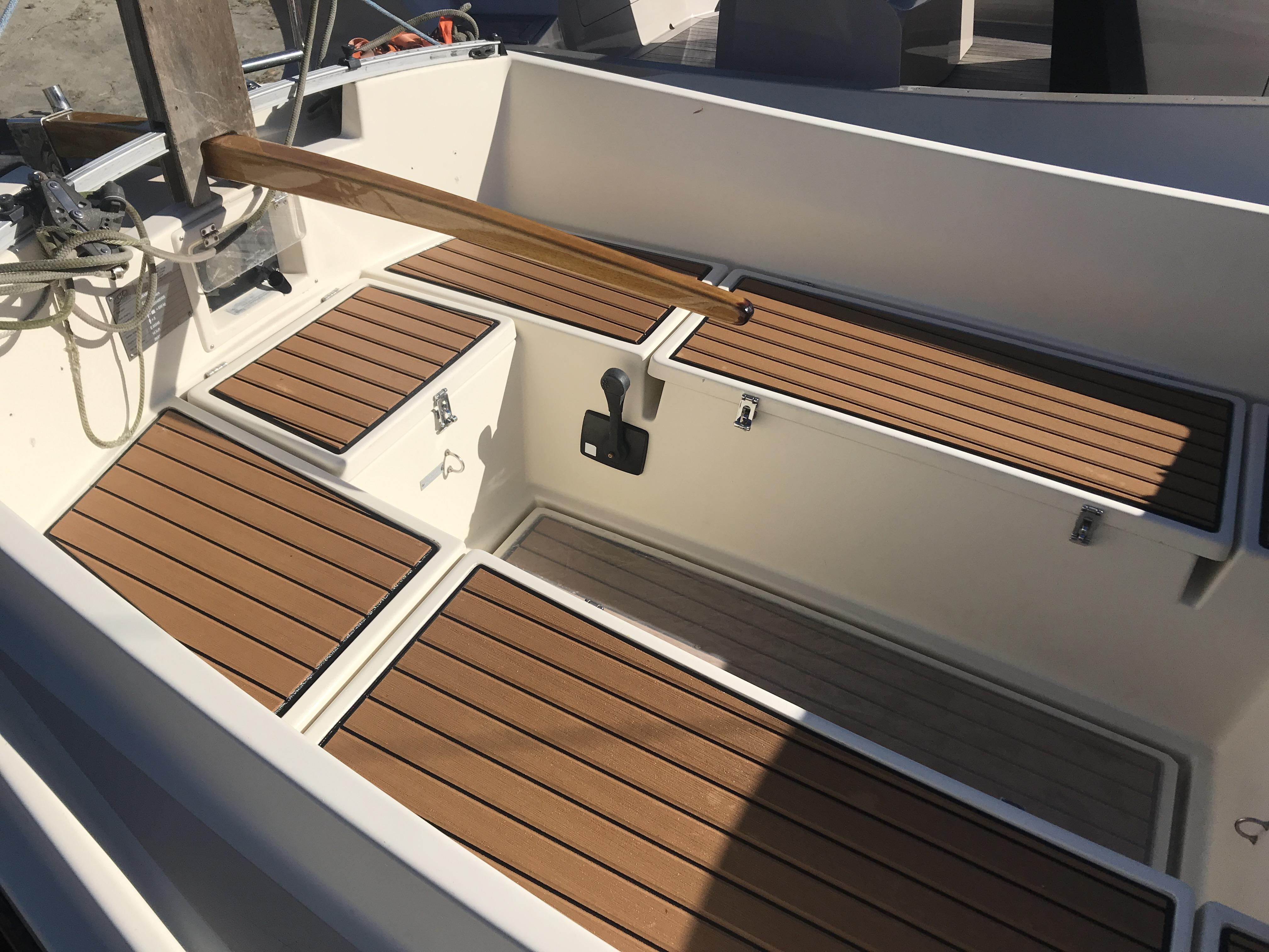 Cornish Crabbers Crabber 22 - All new cockpit SeaDek installed 12/2019