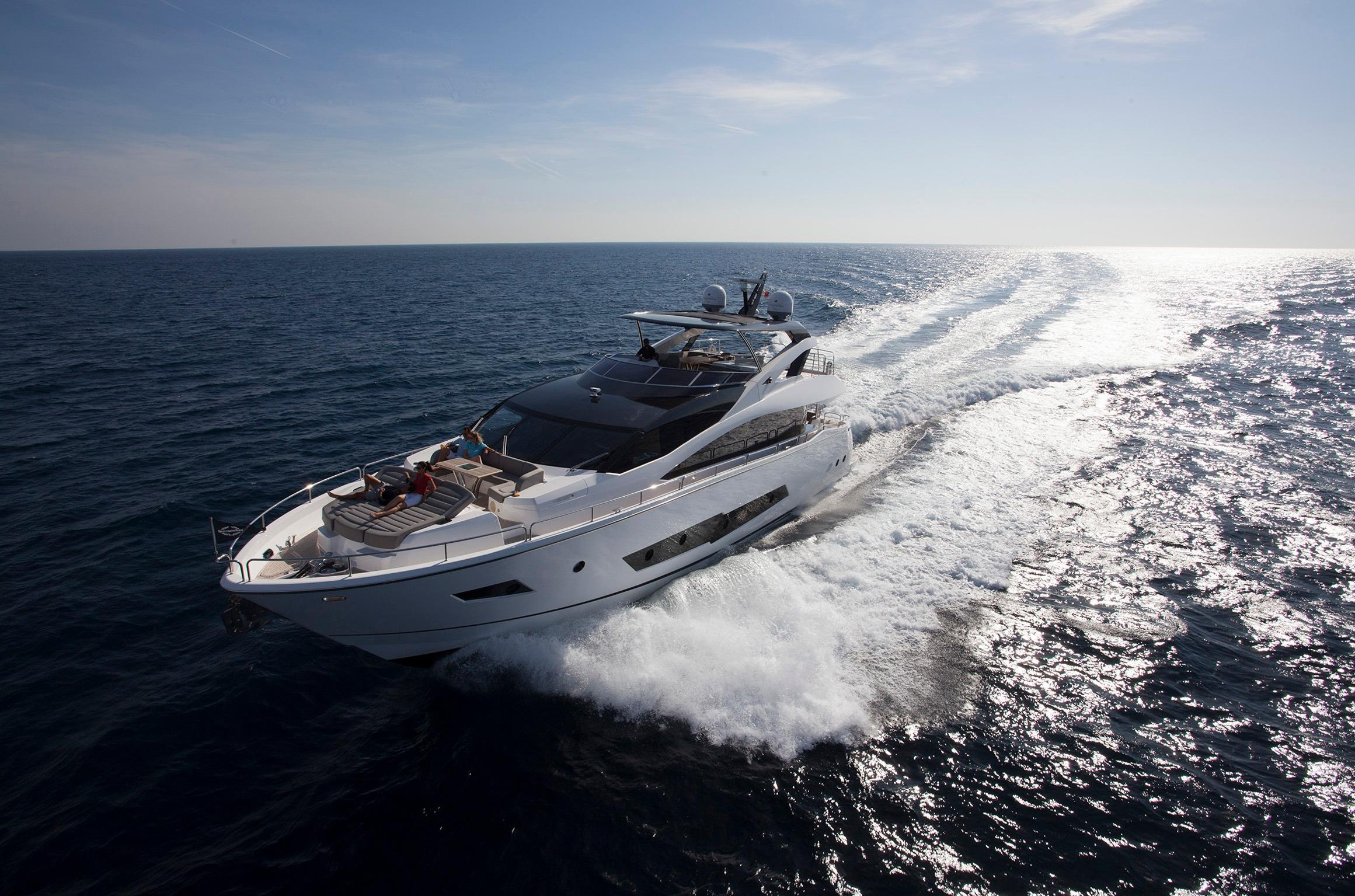 Manufacturer Provided Image: Sunseeker 86 Yacht Running Shot