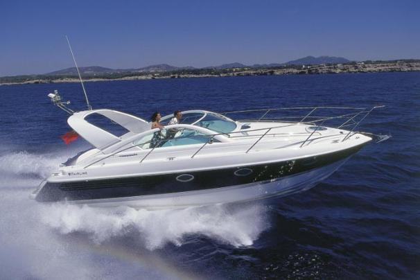 Fairline Targa 34. Length: 34 feet. Model Year: 2005. Price: €170000