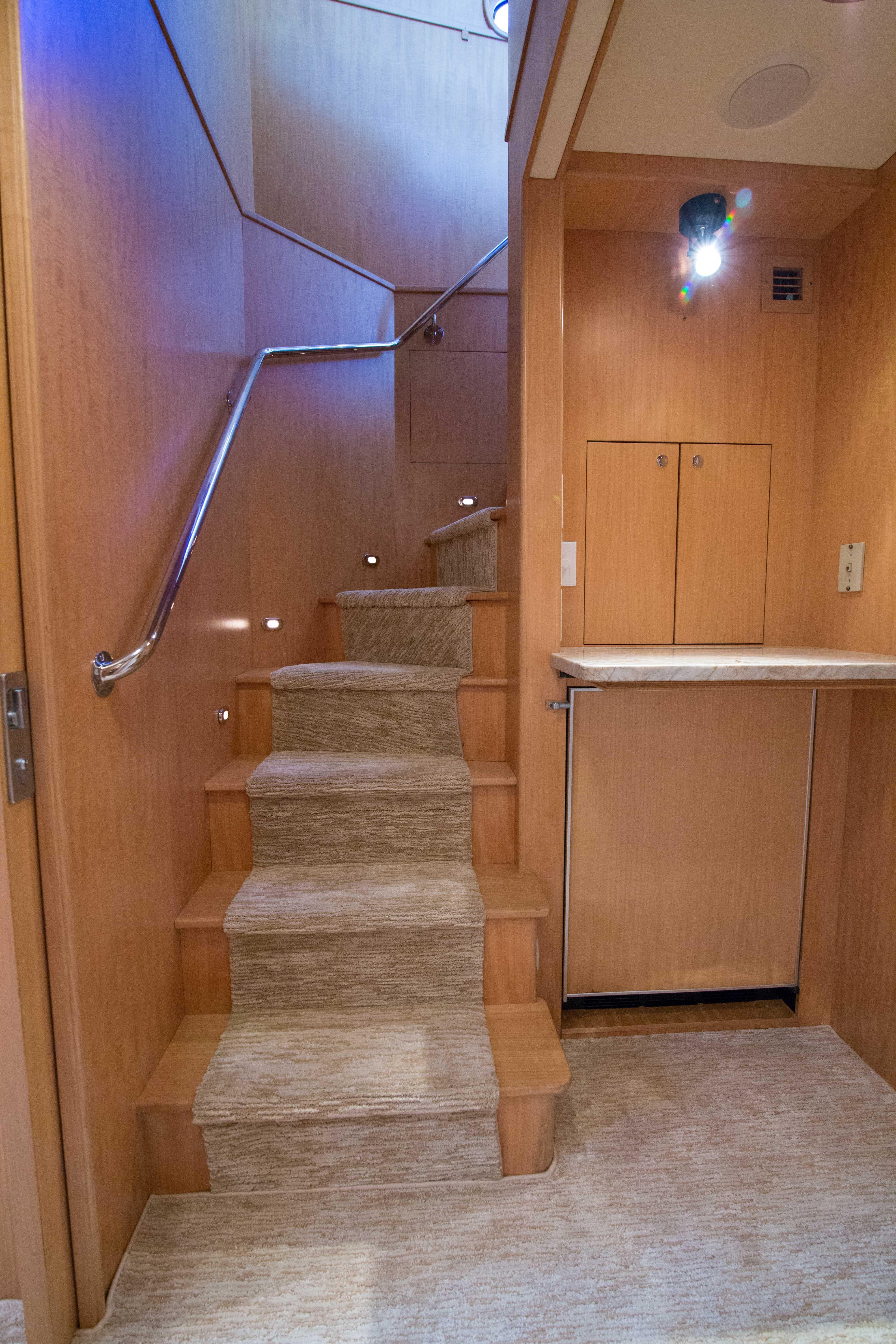 Stairway Back to Helm and Salon