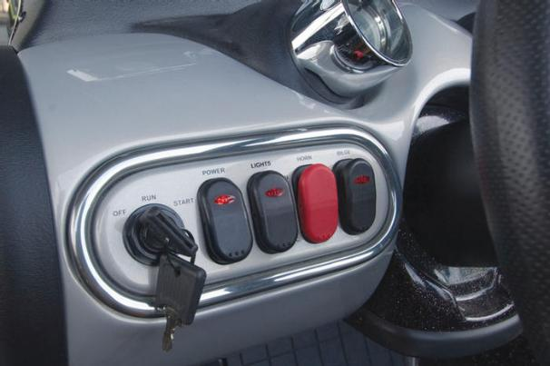 Manufacturer Provided Image: Power, horn, lights and bilge switches are conveniently in-reach at the dash.