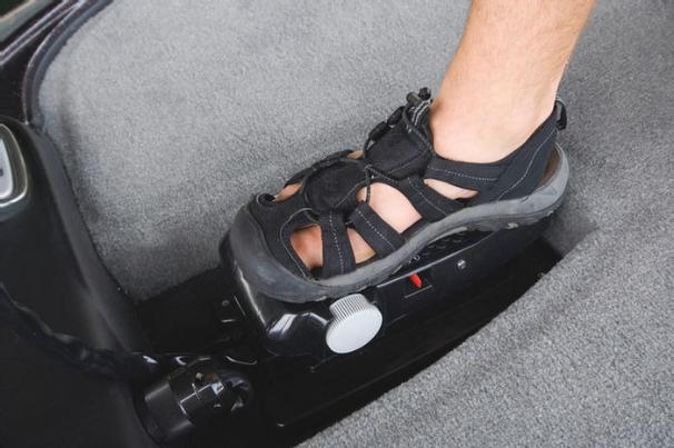 Manufacturer Provided Image: The bow deck features a recessed area for the trolling motor foot pedal.