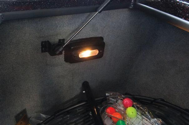 Manufacturer Provided Image: A light in the center bow storage area makes it easy to find your gear at night.