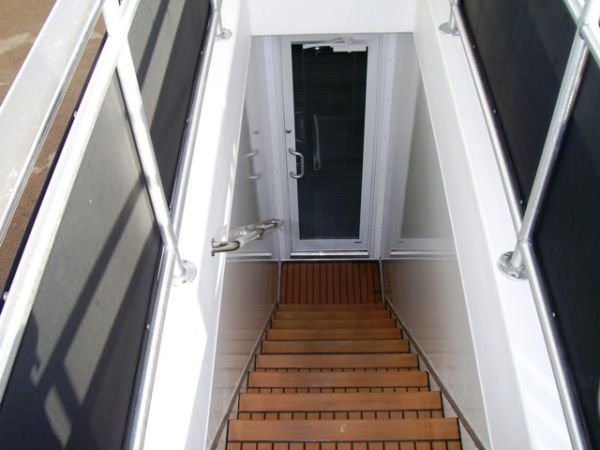 Stairway To Galley From Flybridge